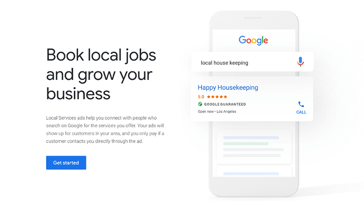 Google Guaranteed Local Services Mobile