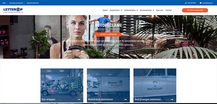 Screenshot website letterop