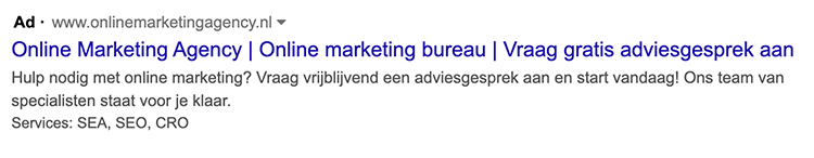 website-informatie extensie google