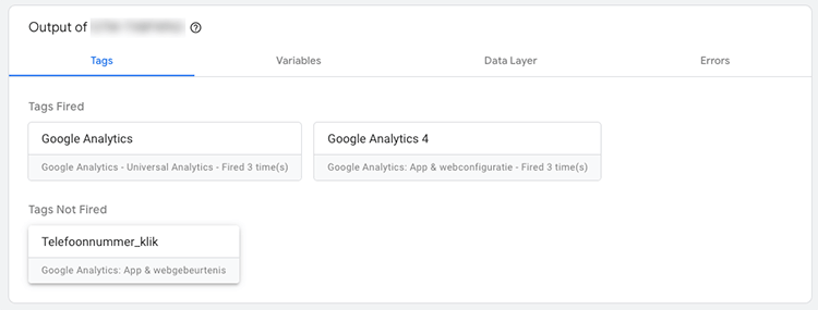 Tag fired analytics 4 call tracking