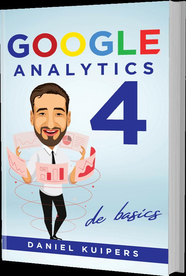 Google Analytics 4 e-book mock-up