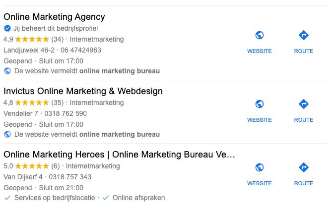 Google Mijn Bedrijf ingehaald concurrent