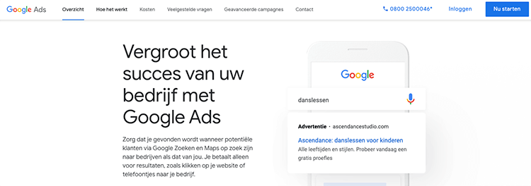 inloggen google ads