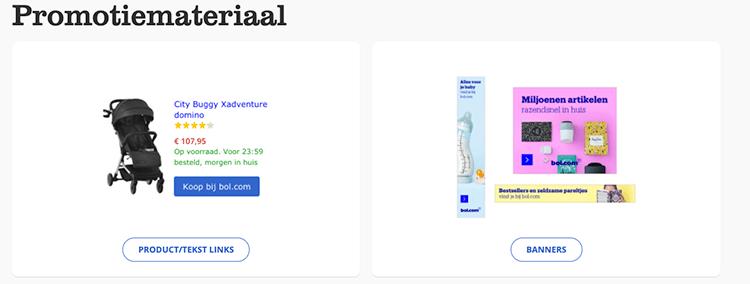 product en tekst links