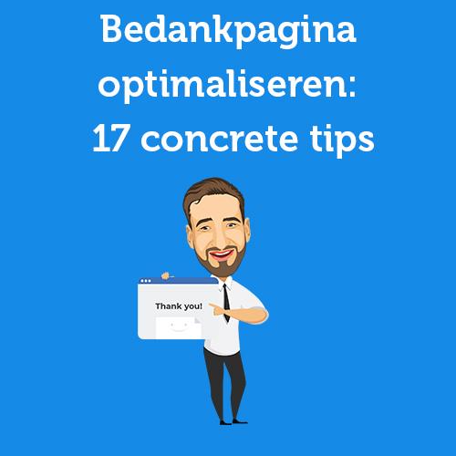 Bedankpagina optimaliseren: 17 concrete tips