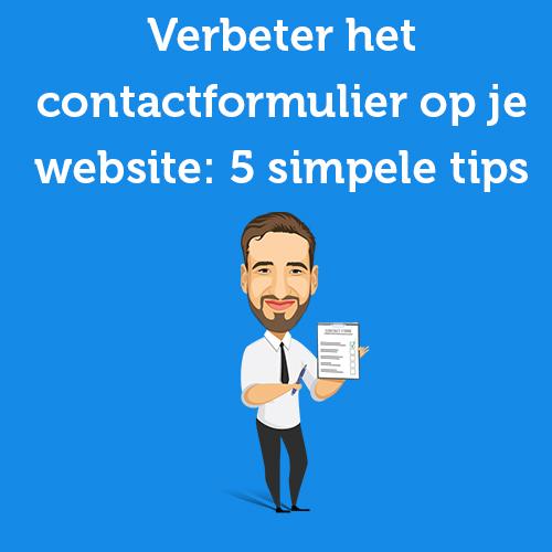 Verbeter het contactformulier op je website: 5 simpele tips