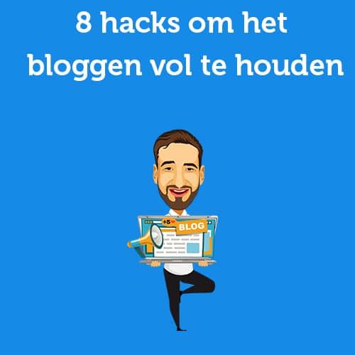 8 hacks om het bloggen vol te houden